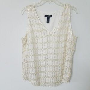 WHBM Silk Sleeveless Blouse Size Large